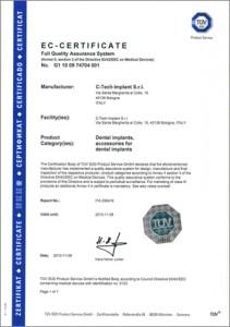 Certificazione CE | C-Tech Implant | Impiantologia Dentale