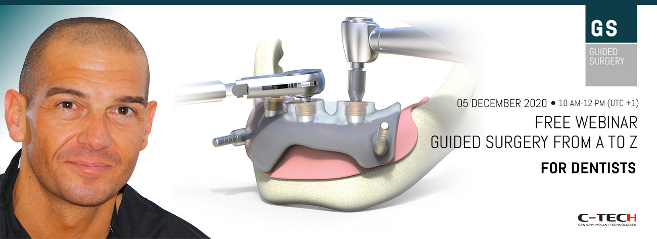 "New Webinar on ""Guided Surgery from A to Z"" addressed to Dentists!"