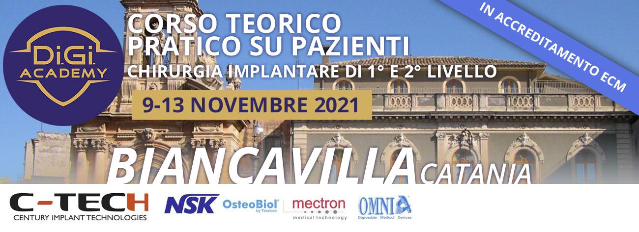 Corso Teorico-Pratico su pazienti | Chirurgia Implantare di I° e II° Livello | Catania